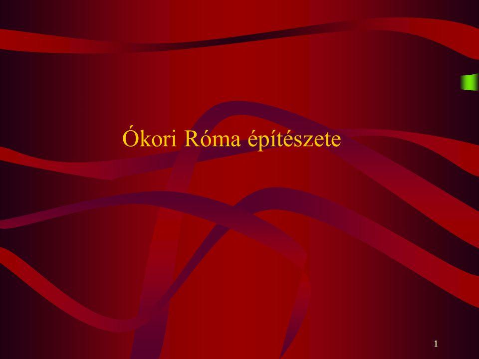 1 Ókori Róma építészete