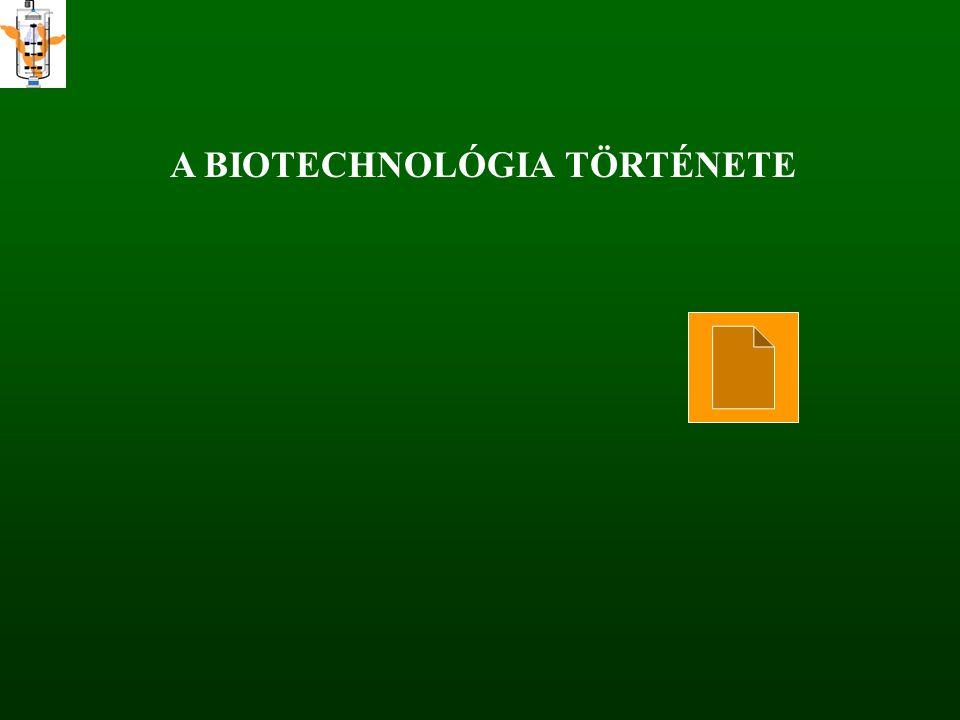 A BIOTECHNOLÓGIA TÖRTÉNETE