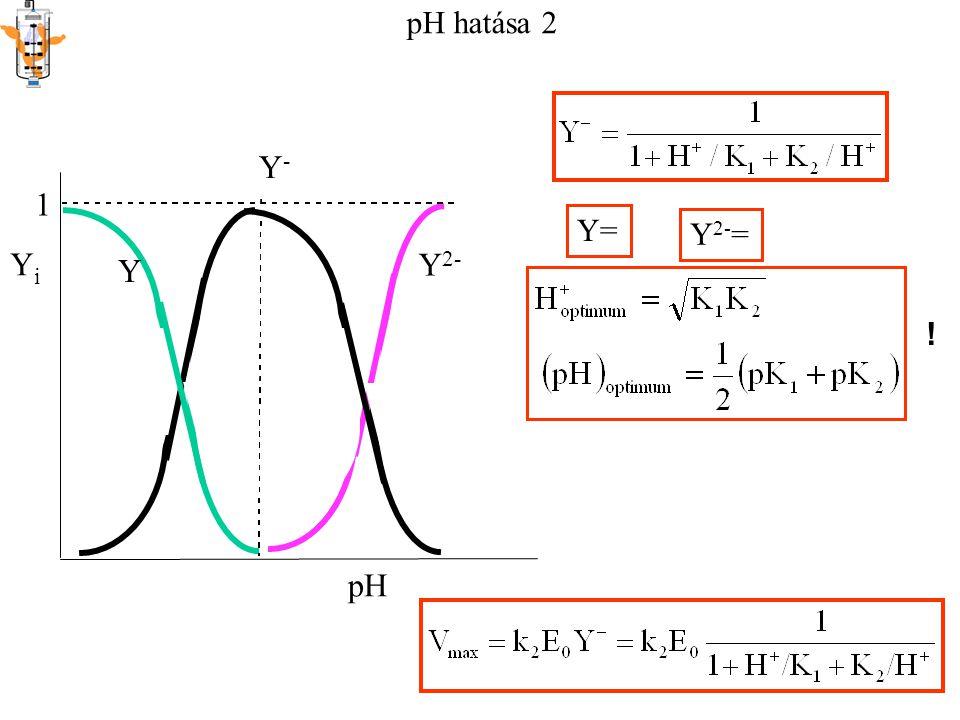 Y i pH 1 Y Y - Y 2- Y= Y 2- = pH hatása 2 !