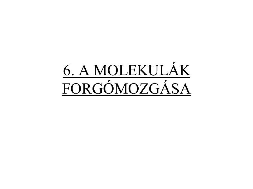 6. A MOLEKULÁK FORGÓMOZGÁSA