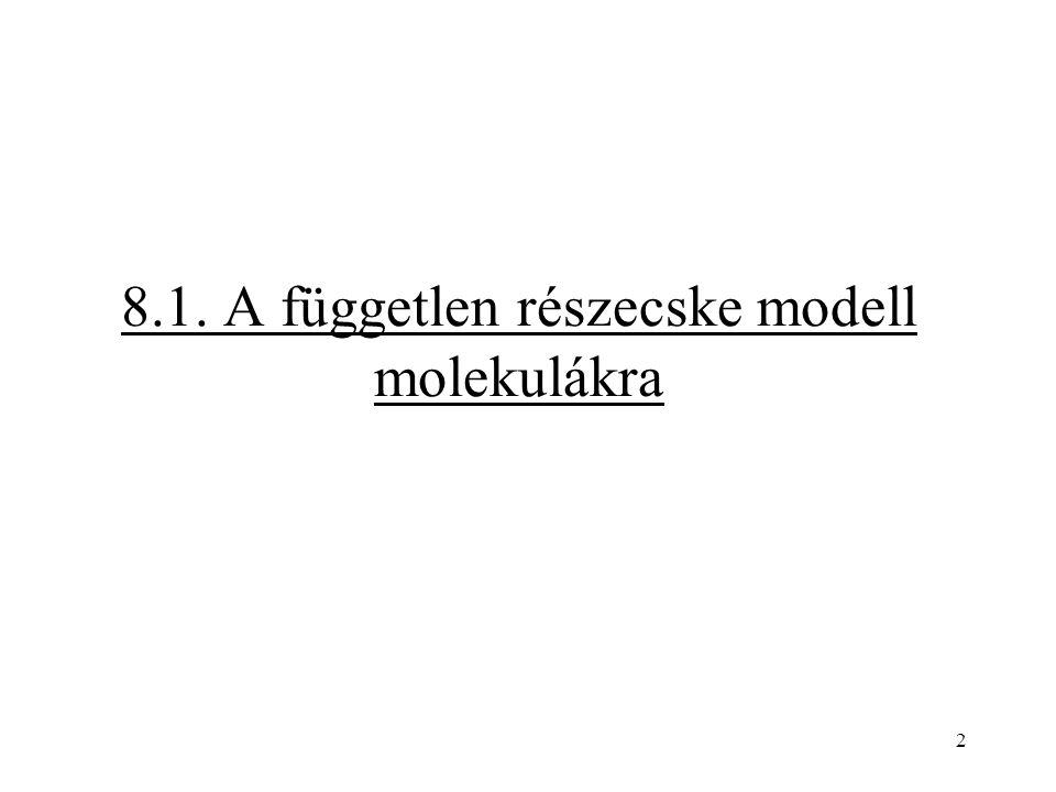 2 8.1. A független részecske modell molekulákra