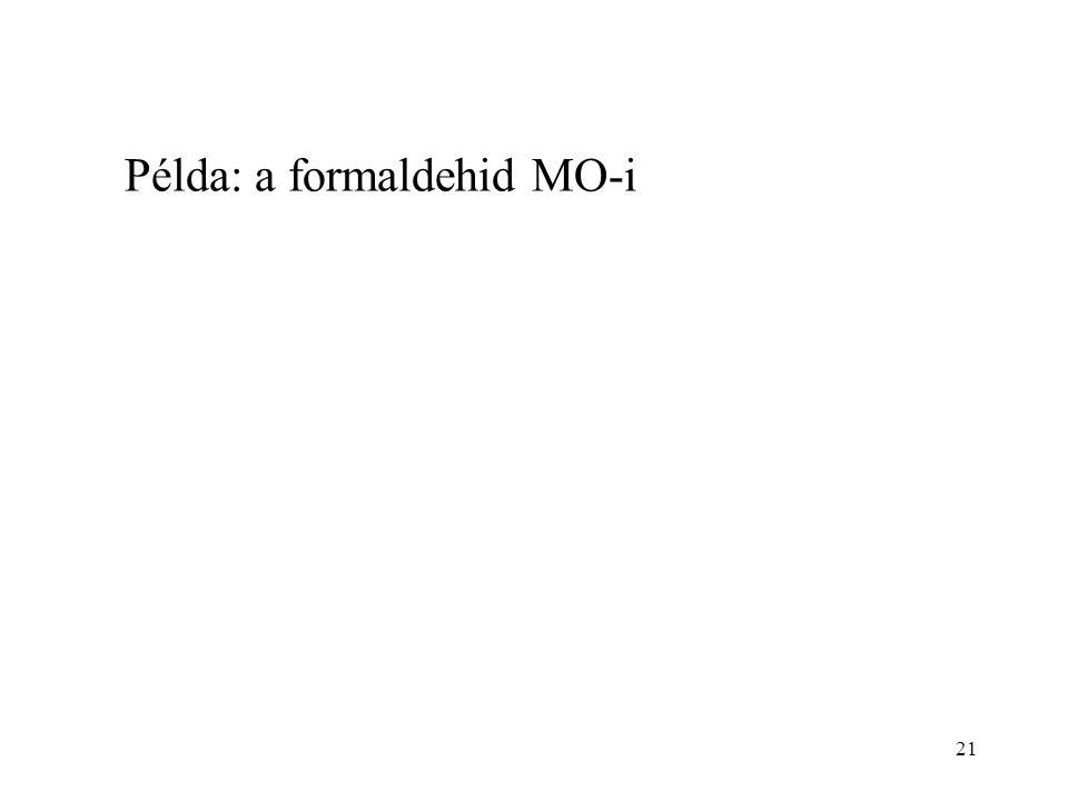21 Példa: a formaldehid MO-i