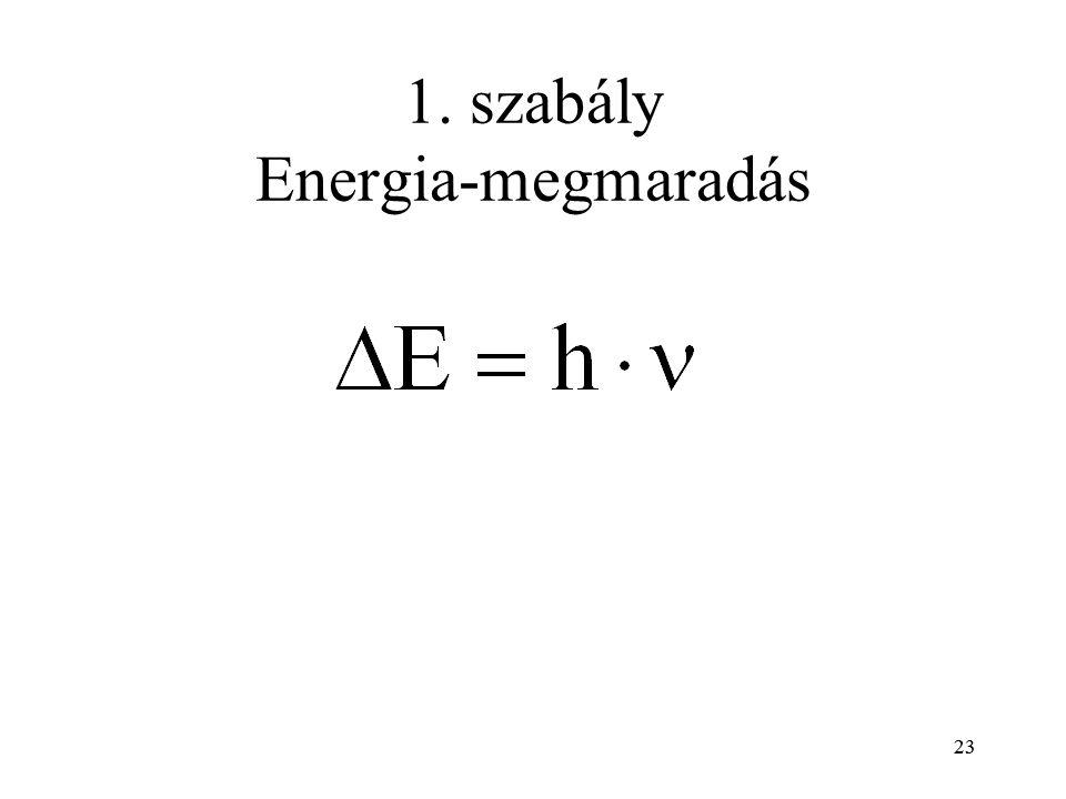 23 1. szabály Energia-megmaradás 23