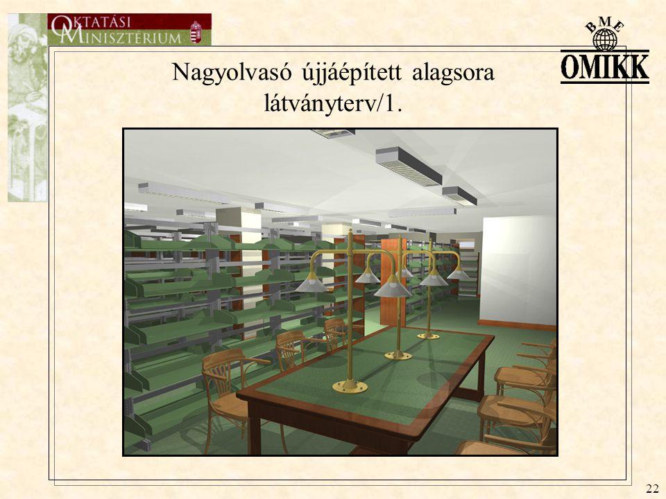 22 Nagyolvasó újjáépített alagsora látványterv/1.