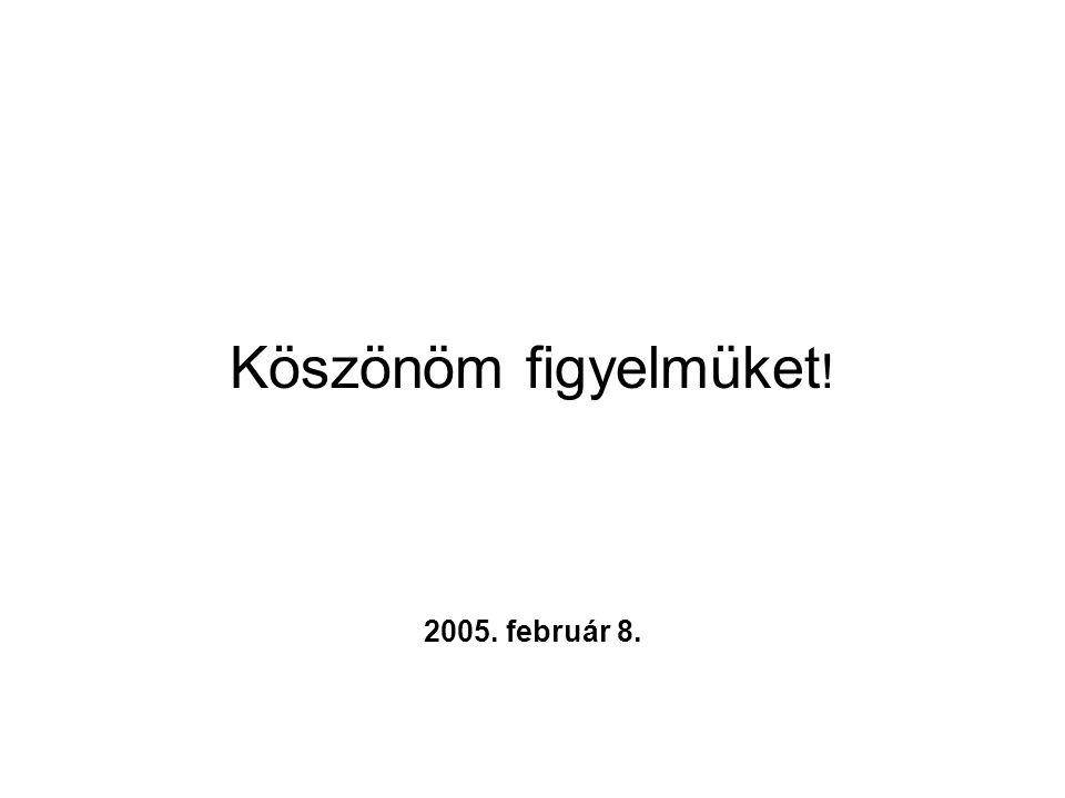 Köszönöm figyelmüket ! 2005. február 8.