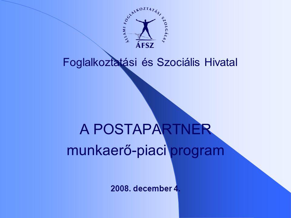 2008. december 4. A POSTAPARTNER munkaerő-piaci program Foglalkoztatási és Szociális Hivatal