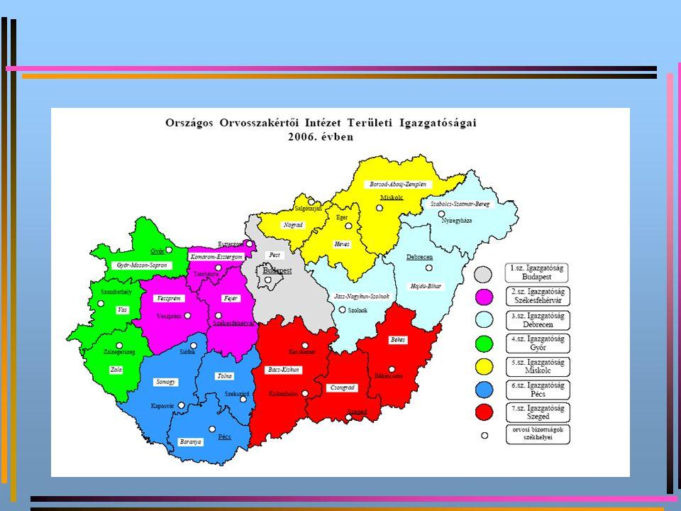 Szervezet, létszám, gazdálkodás Főigazgatóság, 7 regionális igazgatóság, 22 telephely, 56 I.