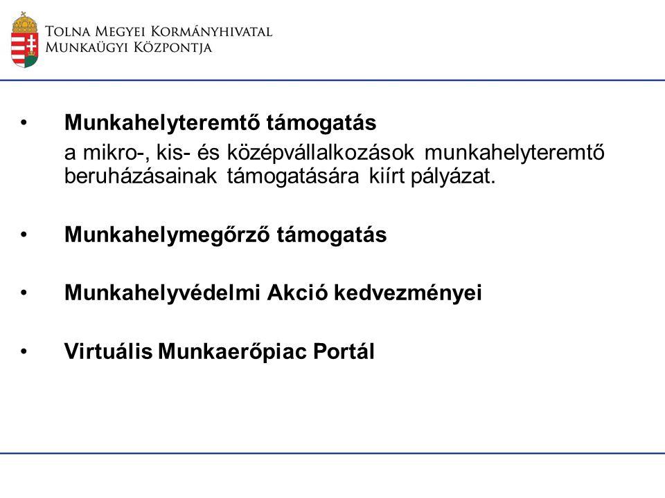Adókedvezmények 2014 Munkahelyvédelmi akcióterv Jogszabályi alapja: az egyes adótörvények és azzal összefüggő egyéb törvények módosításáról szóló 2011.
