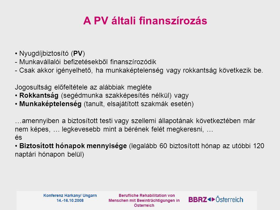 Nyugdíjbiztosító (PV) - Munkavállalói befizetésekből finanszírozódik - Csak akkor igényelhető, ha munkaképtelenség vagy rokkantság következik be.