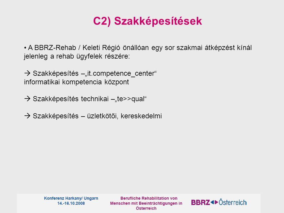 """A BBRZ-Rehab / Keleti Régió önállóan egy sor szakmai átképzést kínál jelenleg a rehab ügyfelek részére:  Szakképesítés –""""it.competence_center"""" inform"""