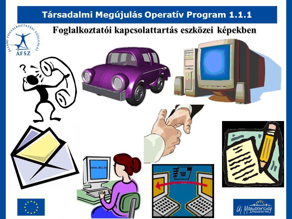 Társadalmi Megújulás Operatív Program 1.1.1 Foglalkoztatói kapcsolattartás eszközei képekben