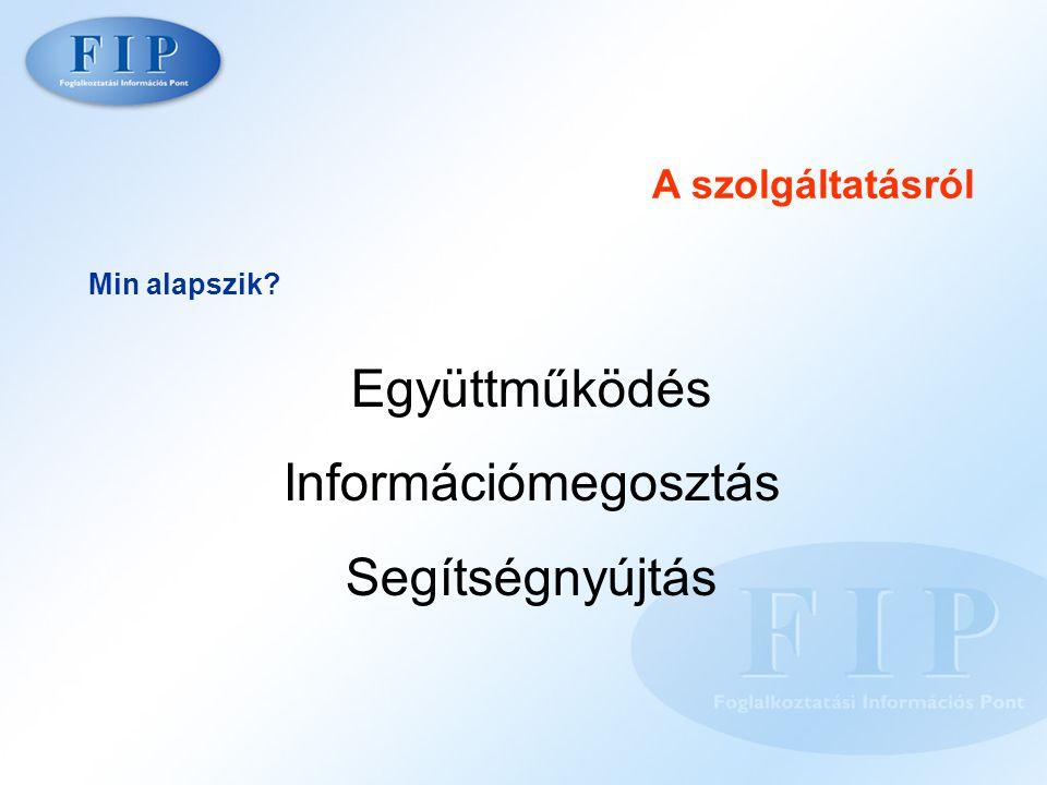 A szolgáltatásról Min alapszik Együttműködés Információmegosztás Segítségnyújtás