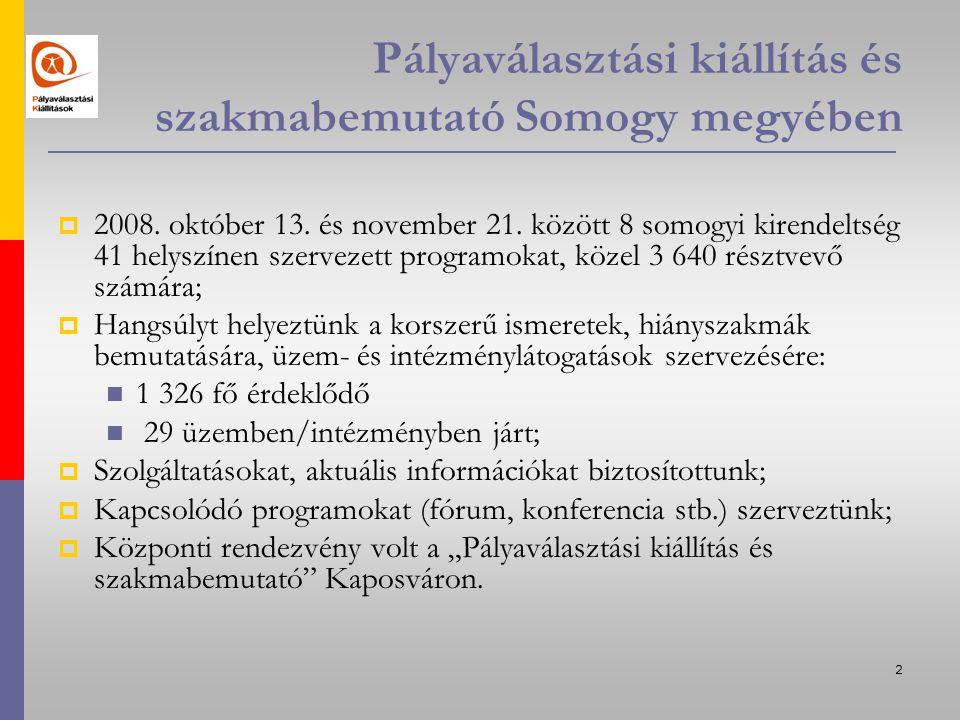 3 Kaposvári Kirendeltség és Szolgáltató Központ rendezvényei I.