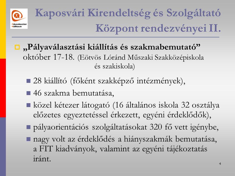 4 Kaposvári Kirendeltség és Szolgáltató Központ rendezvényei II.