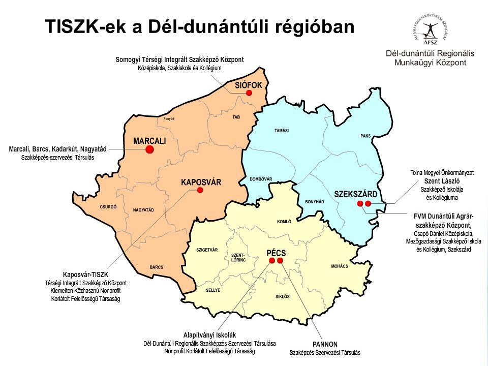 TISZK-ek a Dél-dunántúli régióban