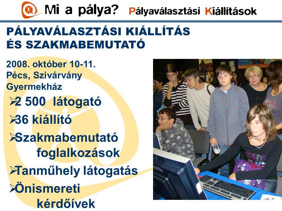 PÁLYAVÁLASZTÁSI KIÁLLÍTÁS ÉS SZAKMABEMUTATÓ Pécs, Szivárvány Gyermekház 2008.