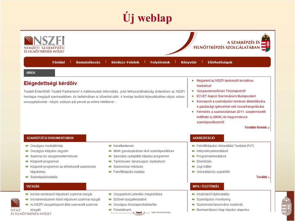 Új weblap