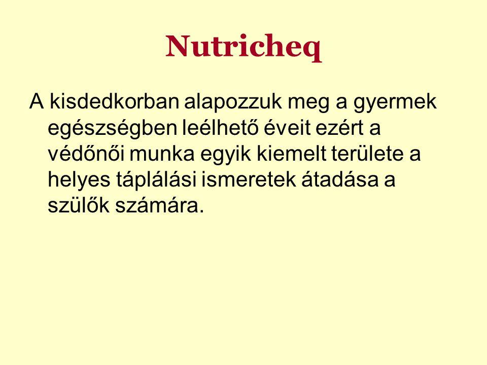 Nutricheq A kisdedkorban alapozzuk meg a gyermek egészségben leélhető éveit ezért a védőnői munka egyik kiemelt területe a helyes táplálási ismeretek átadása a szülők számára.