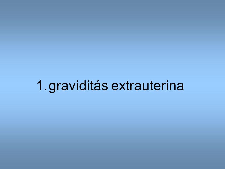 1.graviditás extrauterina