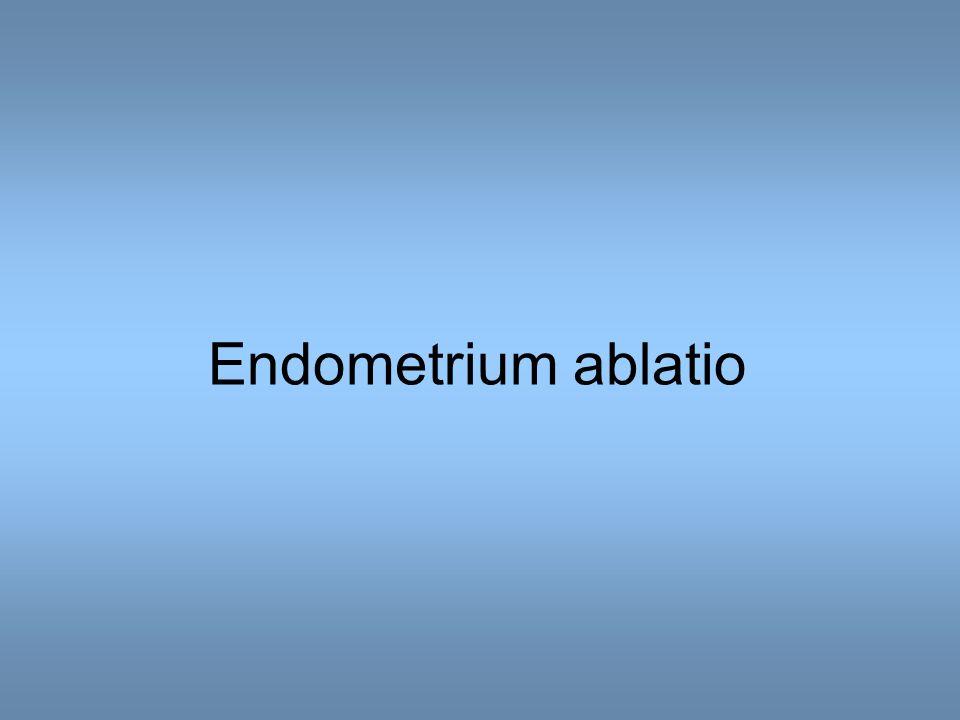Endometrium ablatio