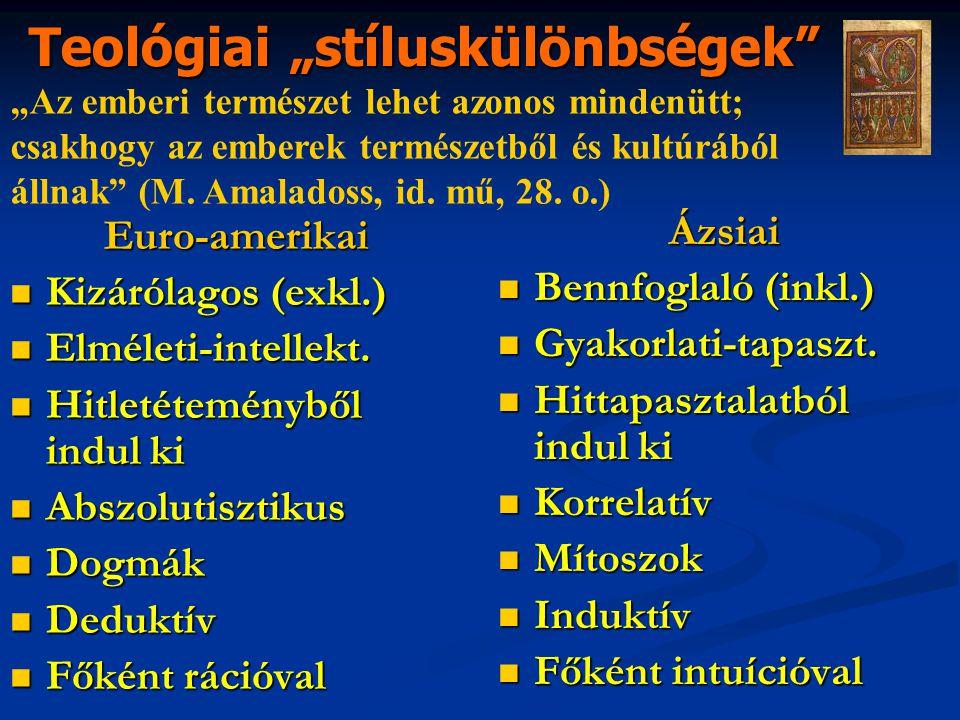 Euro-amerikai Kizárólagos (exkl.) Kizárólagos (exkl.) Elméleti-intellekt.