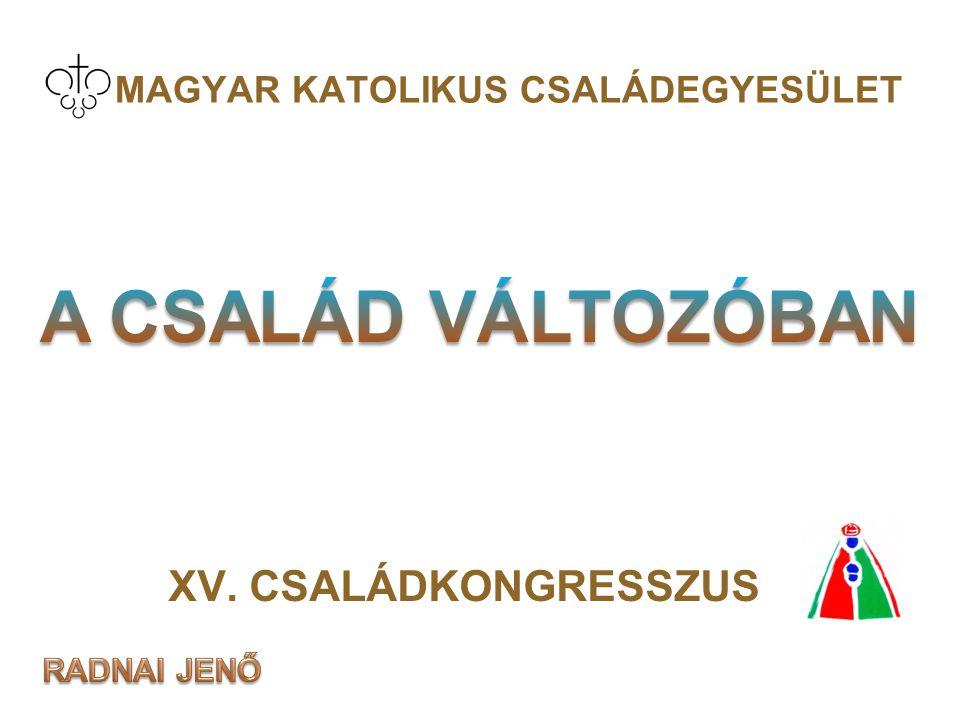 MAGYAR KATOLIKUS CSALÁDEGYESÜLET XV. CSALÁDKONGRESSZUS Máriabesnyő, 2008. nov. 6-8. 1