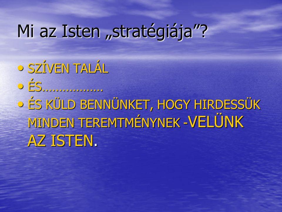 """Mi az Isten """"stratégiája ."""
