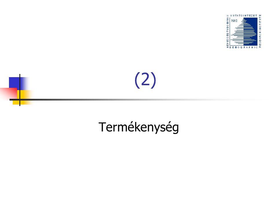 (2) Termékenység