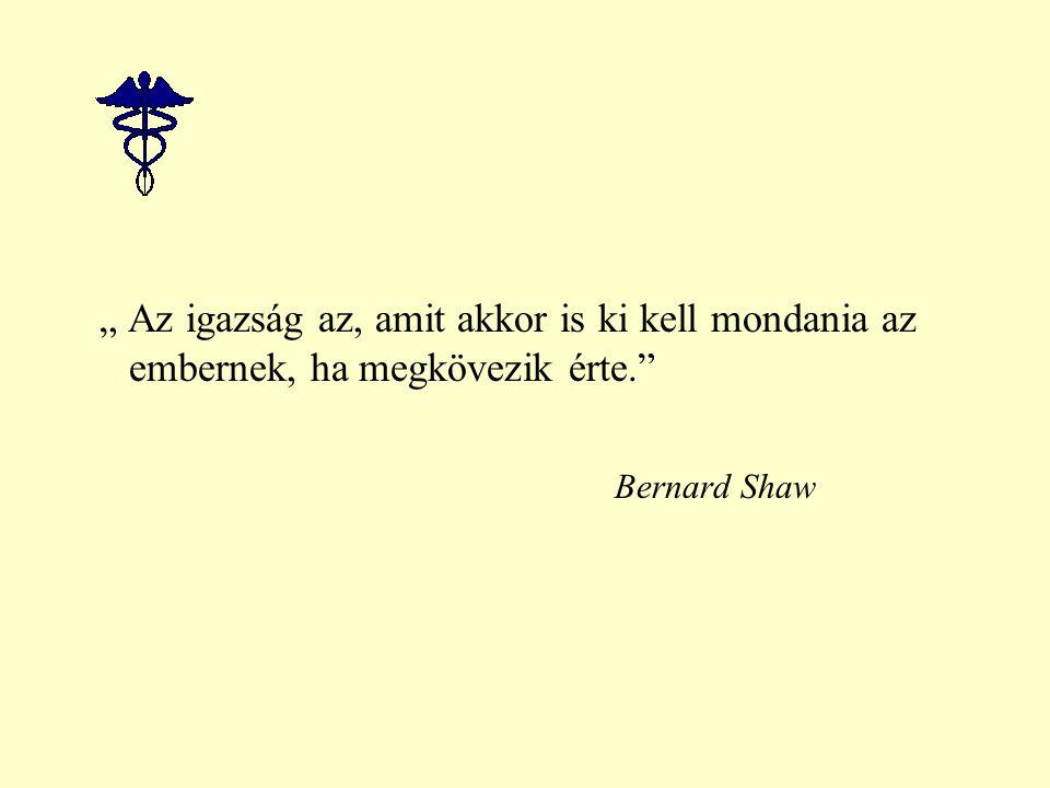 """"""" Az igazság az, amit akkor is ki kell mondania az embernek, ha megkövezik érte. Bernard Shaw"""