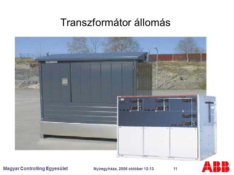 Magyar Controlling Egyesület Nyíregyháza, 2006 október 12-13 11 Transzformátor állomás