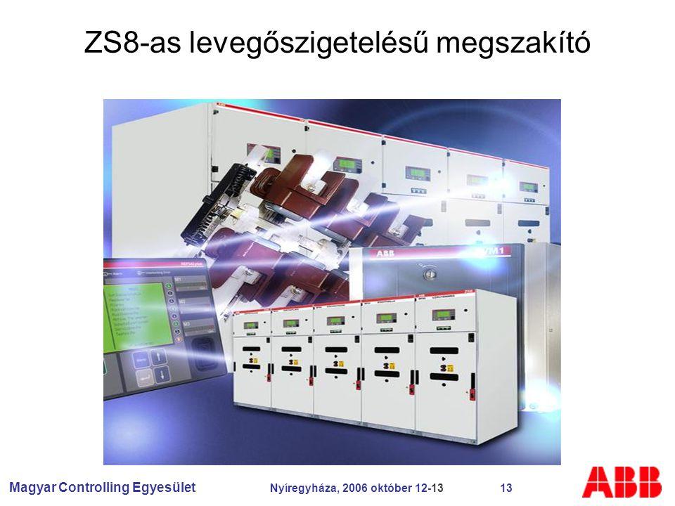 Magyar Controlling Egyesület Nyíregyháza, 2006 október 12-13 13 ZS8-as levegőszigetelésű megszakító
