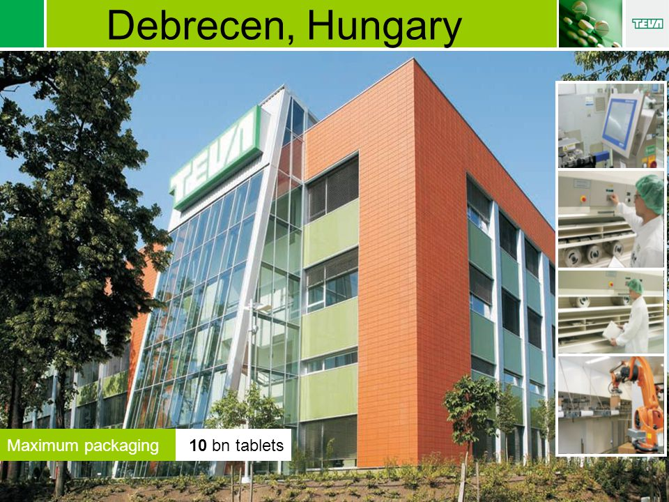 Maximum packaging10 bn tablets Debrecen, Hungary