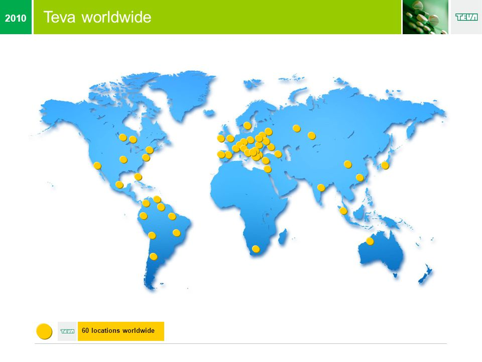 Teva worldwide 60 locations worldwide 2010