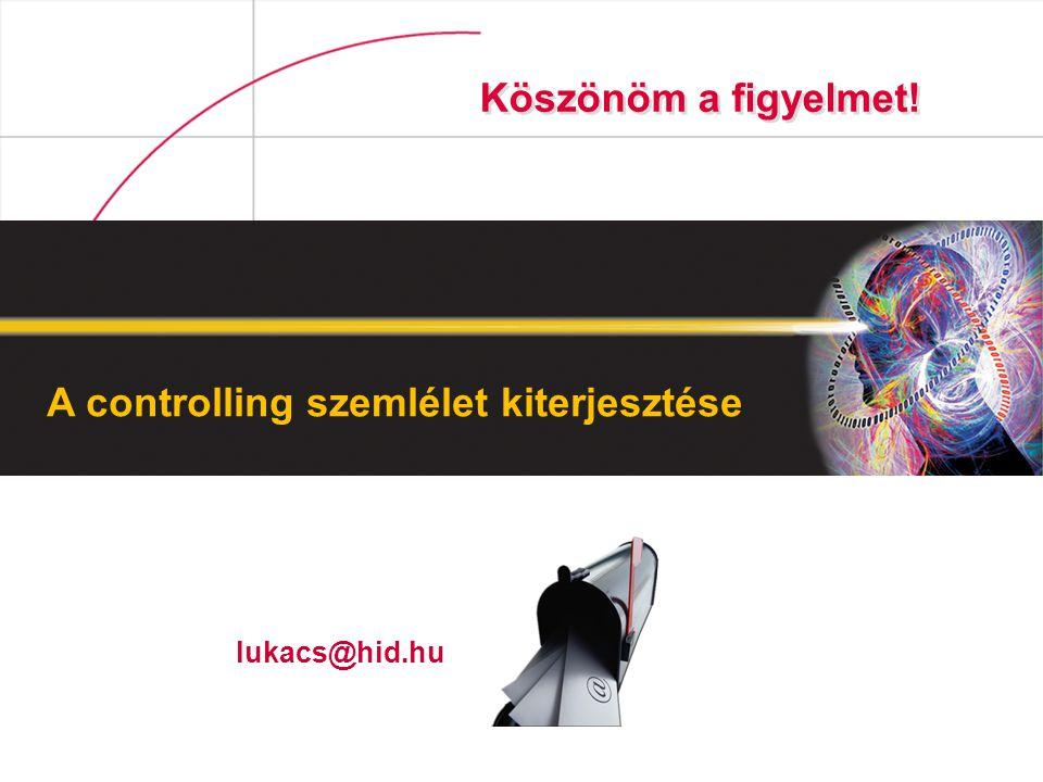 A controlling szemlélet kiterjesztése Köszönöm a figyelmet! lukacs@hid.hu