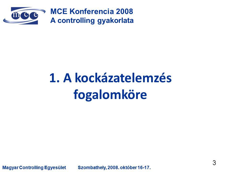 Magyar Controlling EgyesületSzombathely, 2008. október 16-17.Magyar Controlling EgyesületSzombathely, 2008. október 16-17. 3 MCE Konferencia 2008 A co