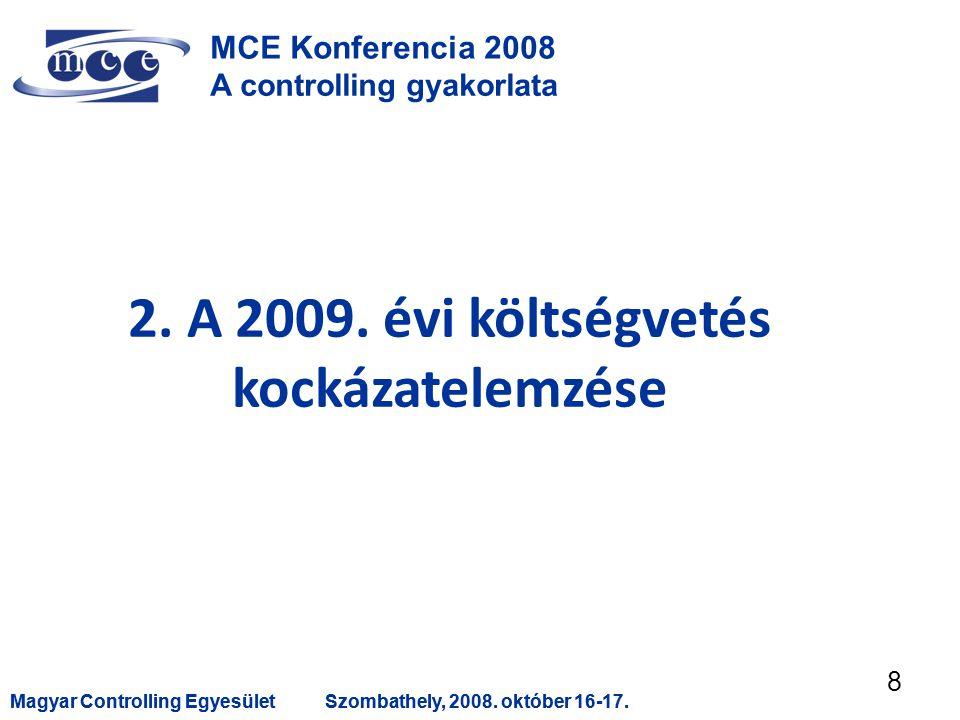 Magyar Controlling EgyesületSzombathely, 2008. október 16-17.Magyar Controlling EgyesületSzombathely, 2008. október 16-17. 8 MCE Konferencia 2008 A co