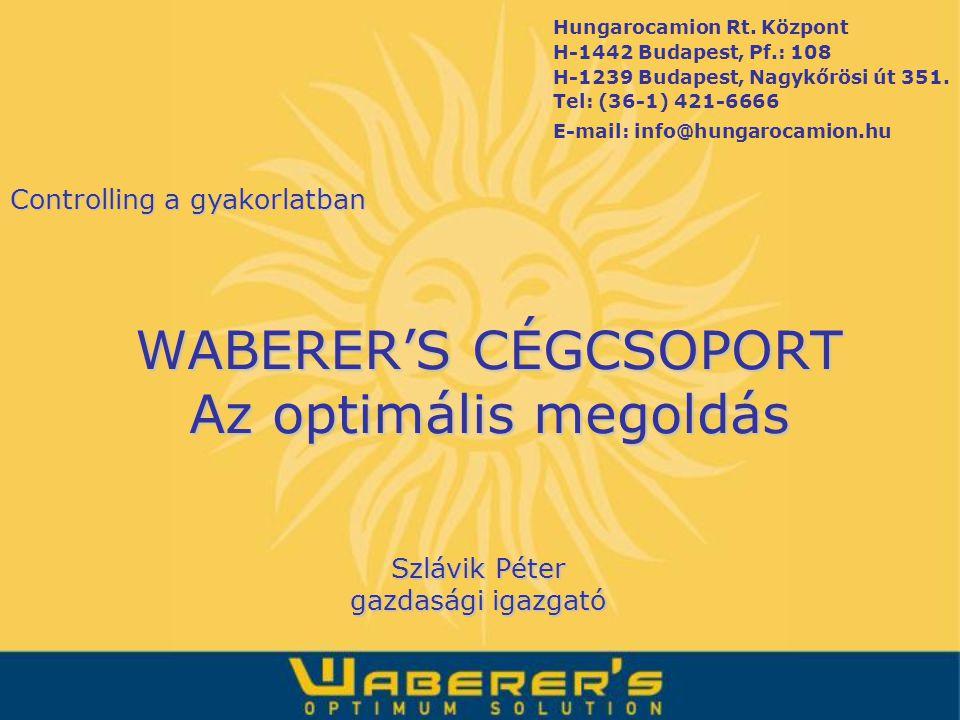 Hungarocamion Rt. Központ H-1442 Budapest, Pf.: 108 H-1239 Budapest, Nagykőrösi út 351. Tel: (36-1) 421-6666 E-mail: info@hungarocamion.hu WABERER'S C