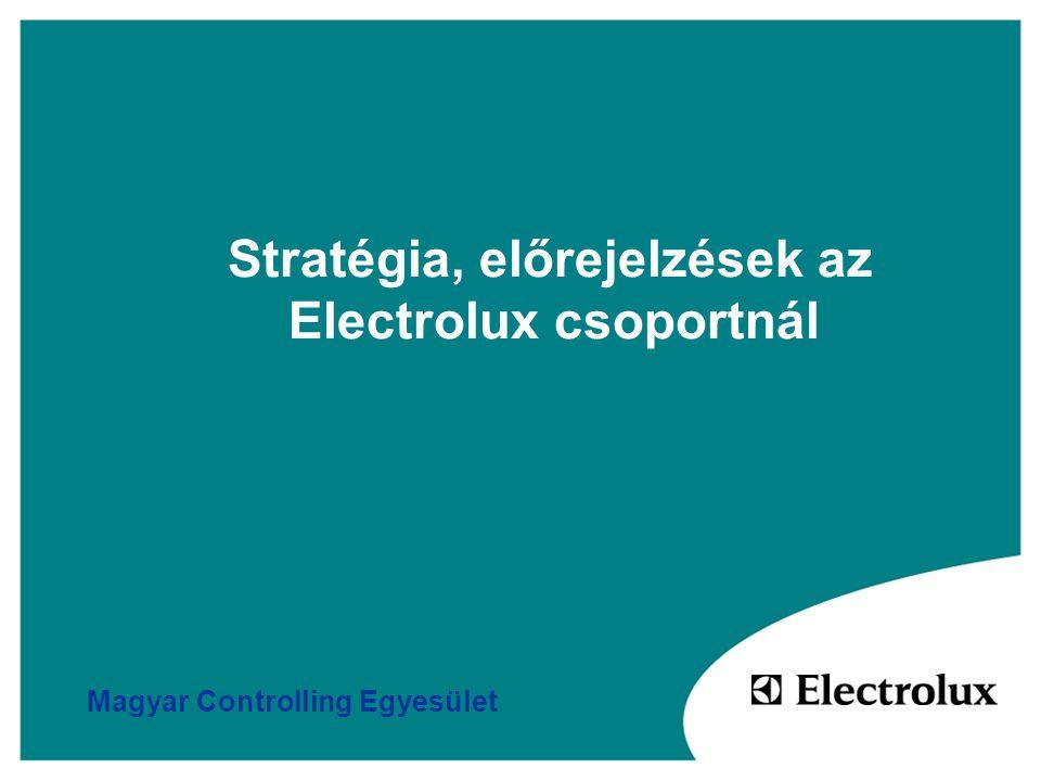 Stratégia, előrejelzések az Electrolux csoportnál Magyar Controlling Egyesület