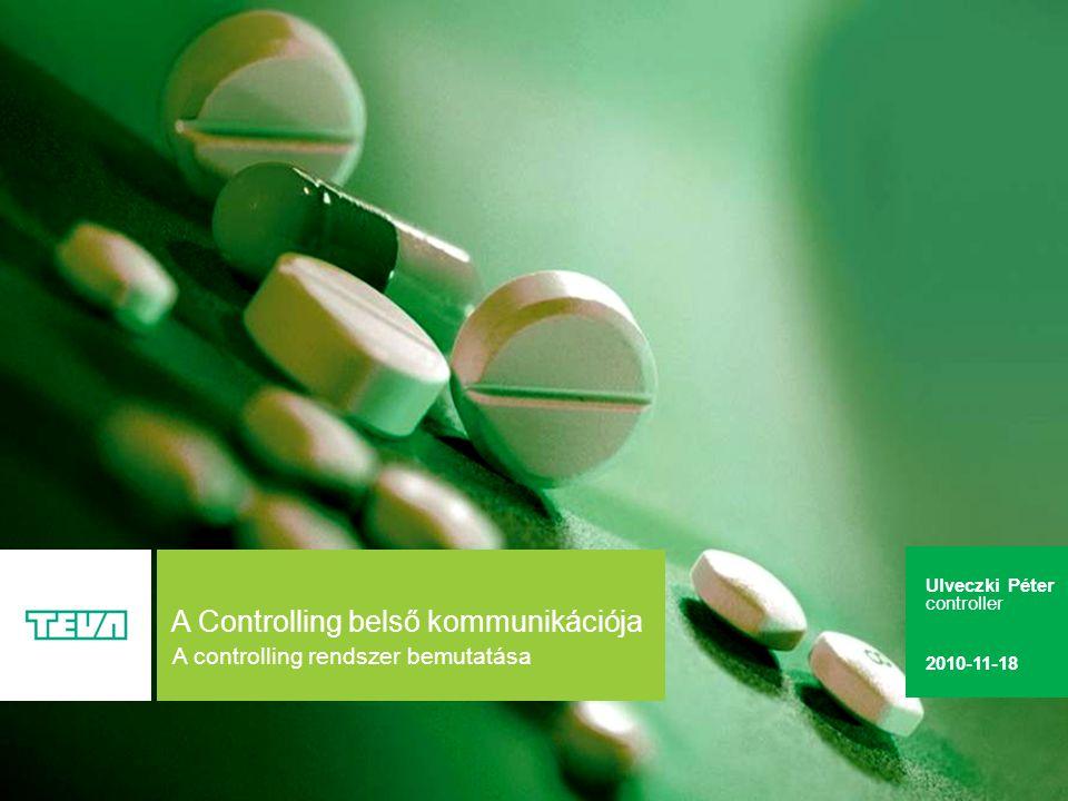 2 A Controlling belső kommunikációja A controlling termékei A controlling vevői Fő tevékenységek Controlling szervezet Riportolási rendszer A megjelenés színterei Zárási feladatok Belső adatszolgáltatás