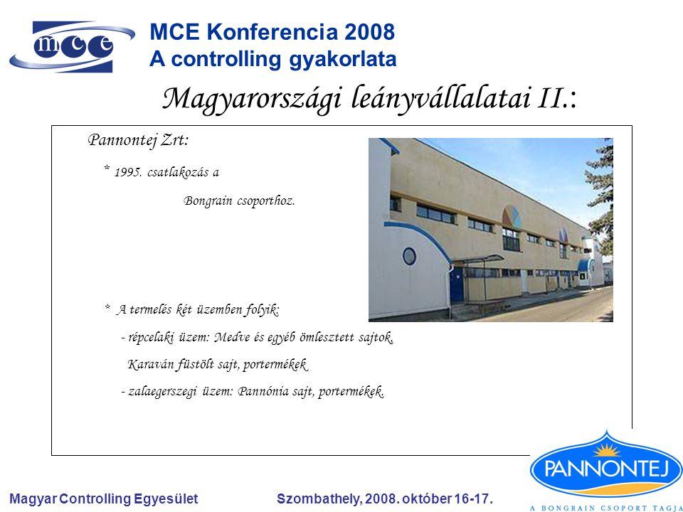 Magyar Controlling Egyesület Szombathely, 2008.október 16-17.
