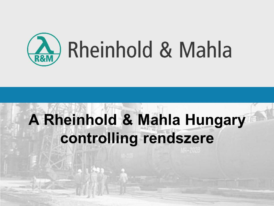 A Rheinhold & Mahla Hungary controlling rendszere