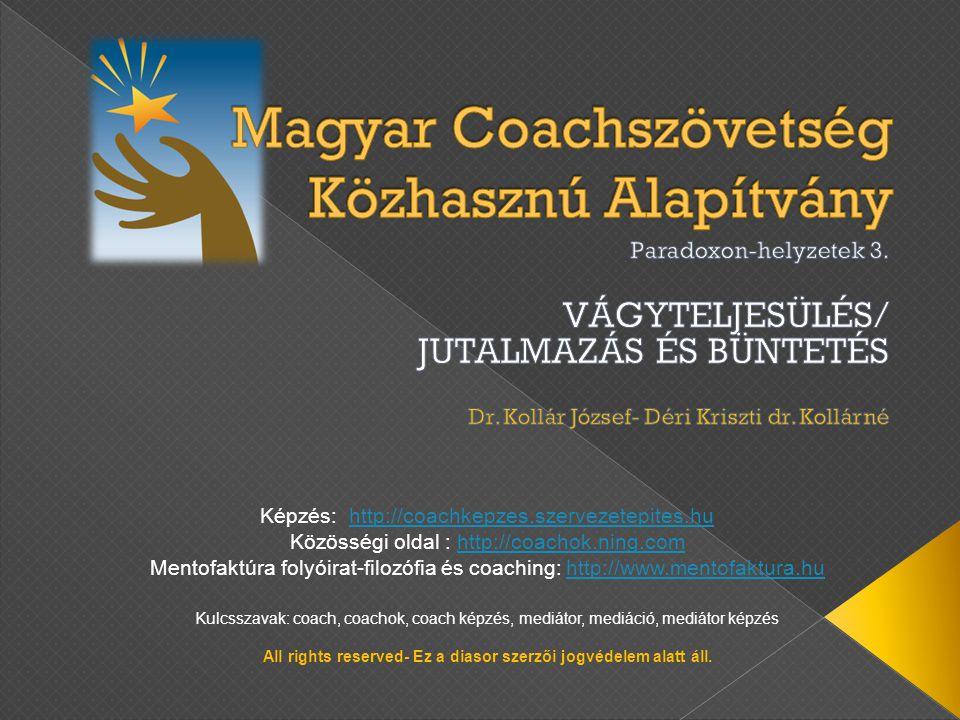 Képzés: http://coachkepzes.szervezetepites.huhttp://coachkepzes.szervezetepites.hu Közösségi oldal : http://coachok.ning.comhttp://coachok.ning.com Me
