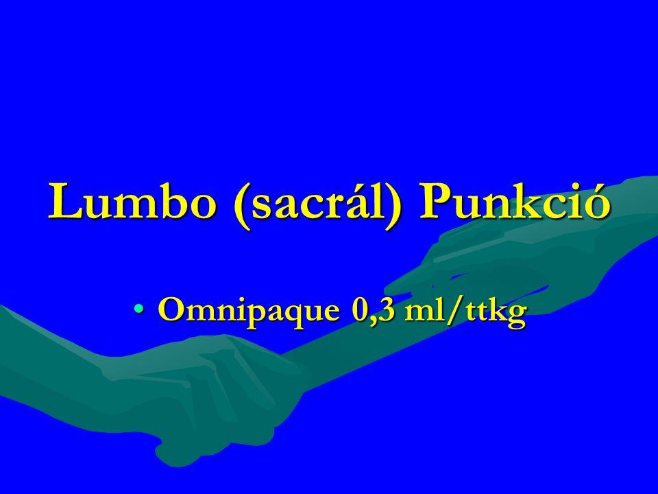 Lumbo (sacrál) Punkció Omnipaque 0,3 ml/ttkgOmnipaque 0,3 ml/ttkg