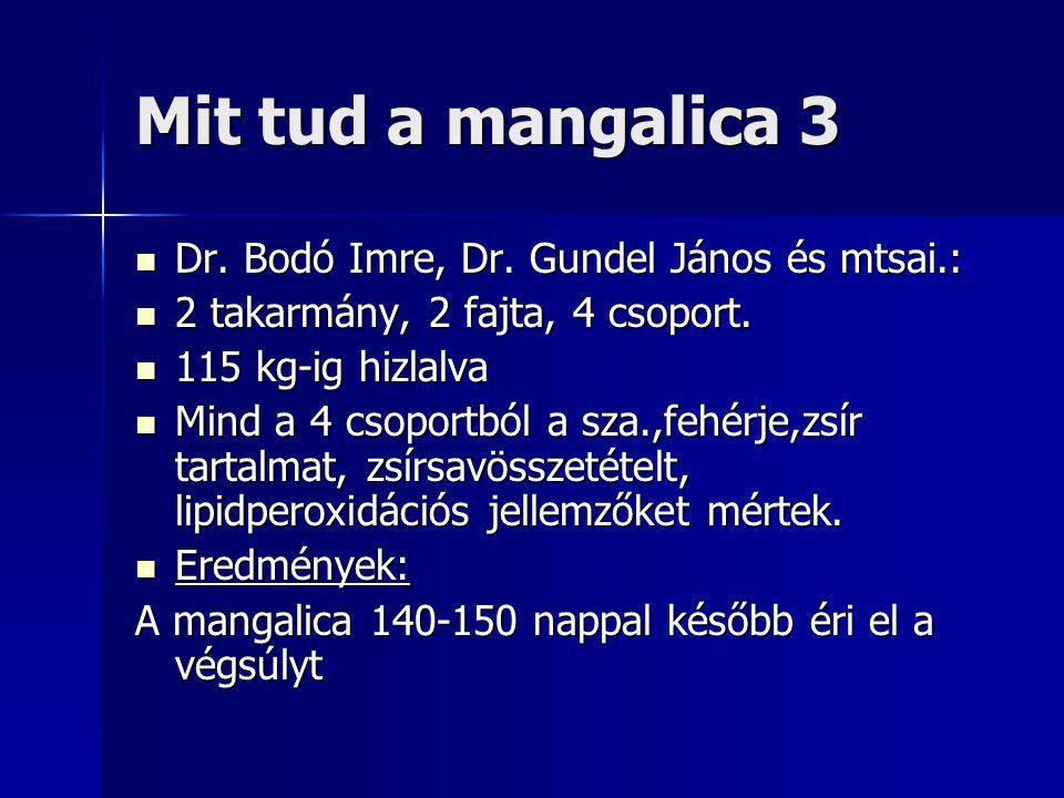 Mit tud a mangalica 3 Dr. Bodó Imre, Dr. Gundel János és mtsai.: Dr.