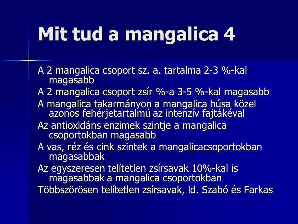 Mit tud a mangalica 4 A 2 mangalica csoport sz. a.