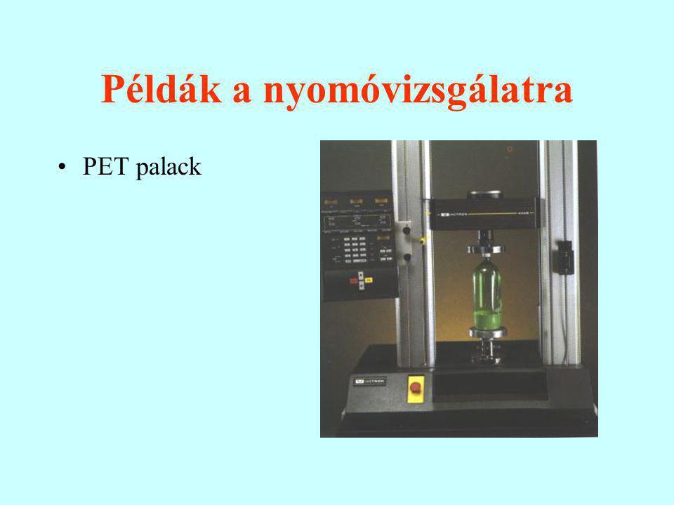 Példák a nyomóvizsgálatra PET palack