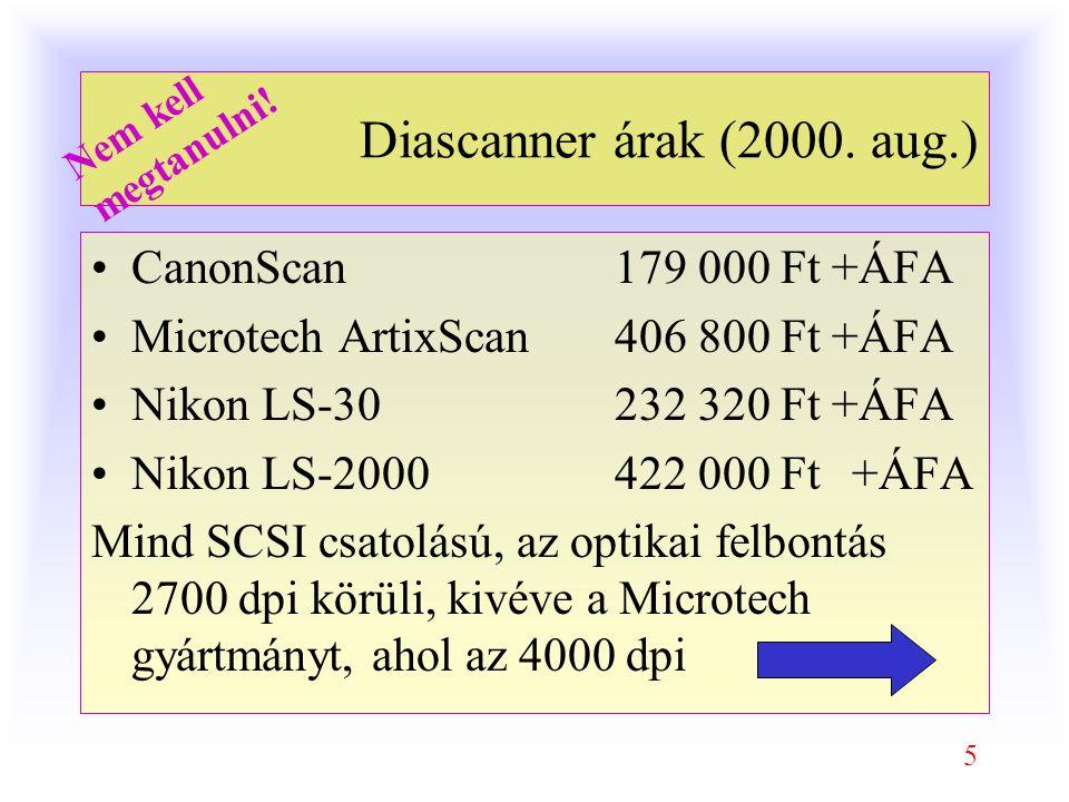 5 Diascanner árak (2000.