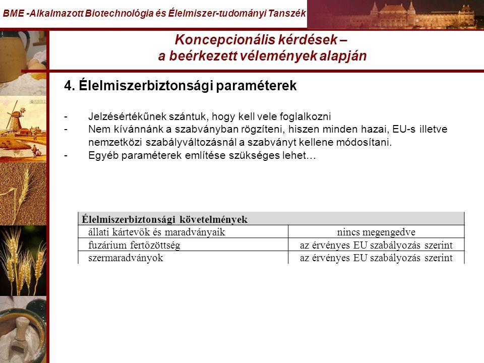 BME -Alkalmazott Biotechnológia és Élelmiszer-tudományi Tanszék 4.