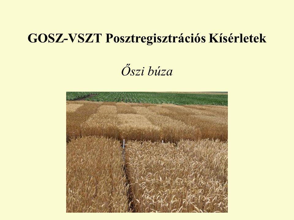 GOSZ-VSZT Posztregisztrációs Kísérletek Őszi búza
