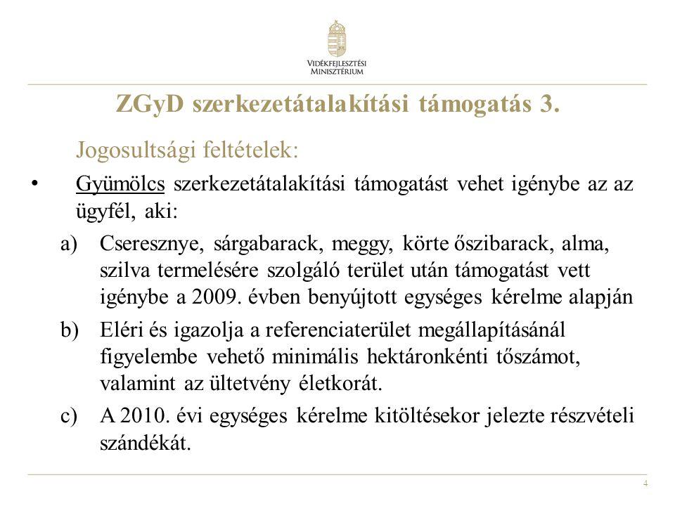 4 ZGyD szerkezetátalakítási támogatás 3.